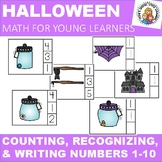 HALLOWEEN COUNTING WRITING AND IDENTIFYING NUMBERS 1-10 IN PRINT