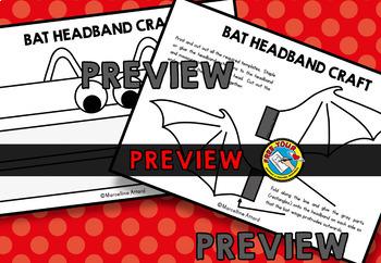 HALLOWEEN ACTIVITIES KINDERGARTEN (BAT CRAFT HAT)