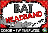 BAT CRAFTS FOR KIDS (OCTOBER ACTIVITY KINDERGARTEN) PRESCHOOL HALLOWEEN HAT
