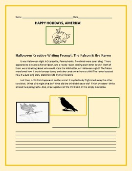 HALLOWEEN CREATIVE WRITING PROMPT: THE FALCON & THE RAVEN