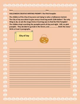 HALLOWEEN CREATIVE WRITING PROMPT: THE PINK PUMPKIN