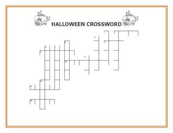 HALLOWEEN CROSSWORD: HAVE FUN! HAPPY HOLIDAYS!