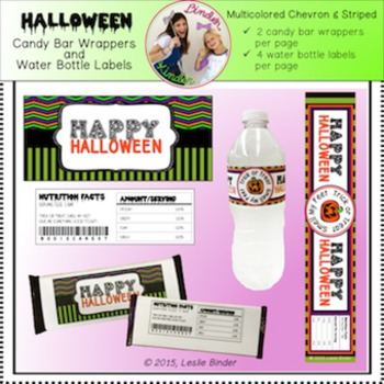 Halloween-Candy Bar Wrappers and Water Bottle Labels-02