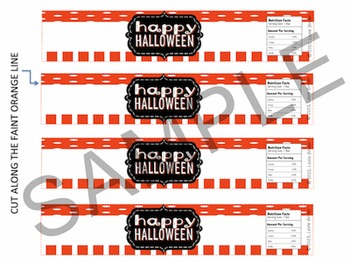 Halloween-Candy Bar Wrappers and Water Bottle Labels-03