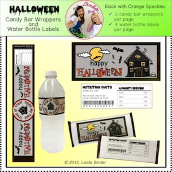 Halloween-Candy Bar Wrappers and Water Bottle Labels-05
