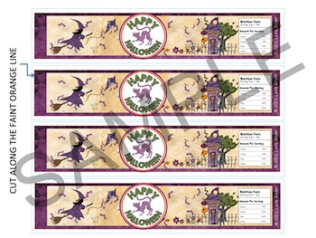 Halloween-Candy Bar Wrappers and Water Bottle Labels-07