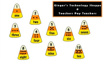 HALLOWEEN!  Candy Corn Math!  Numbers!