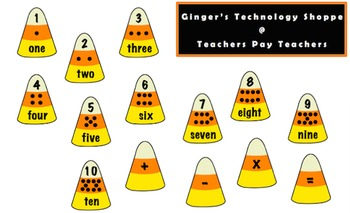 HALLOWEEN!  Candy Corn Math!  Numbers!  Addition!  Subtraction!  Multiplication!