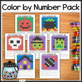 HALLOWEEN Color by Number – Hidden Pictures #81-87 PACK