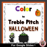 HALLOWEEN Color by Treble Pitch for use with Google™ Slides