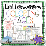 HALLOWEEN Coloring Pages 4 Language Therapy
