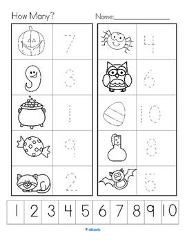 HALLOWEEN Count the Room for Preschool