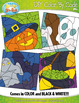 HALLOWEEN Create Your Own Color By Numbers Clipart Set