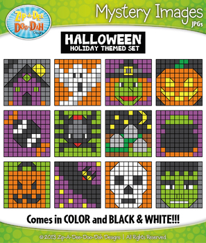 HALLOWEEN Create Your Own Mystery Images Clipart Set