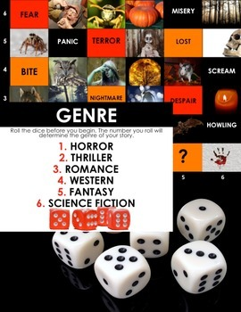 HALLOWEEN Creative Dice-ing: A Board Game for SPOOKY Imaginative Writing