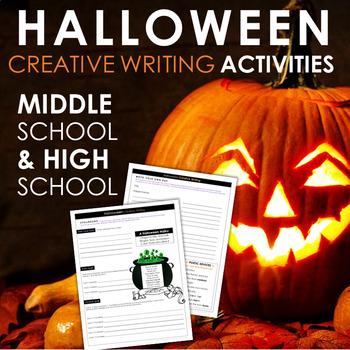 Halloween Creative Writing Activities for Teens - CCSS