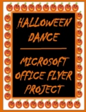 HALLOWEEN DANCE MICROSOFT OFFICE MARKETING FLYER