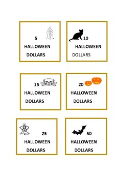 HALLOWEEN DOLLARS: PRINT THEM OUT FOR INCENTIVES