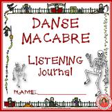 Halloween Music: Danse Macabre Listening Worksheets Grades 1-4 British Spelling