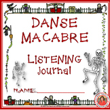 HALLOWEEN: Danse Macabre Listening Worksheets Grades 1-4 B