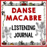 Halloween Music: Danse Macabre Music Listening Worksheets Grades 1-4