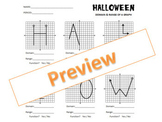 HALLOWEEN:  Domain and Range of a Graph