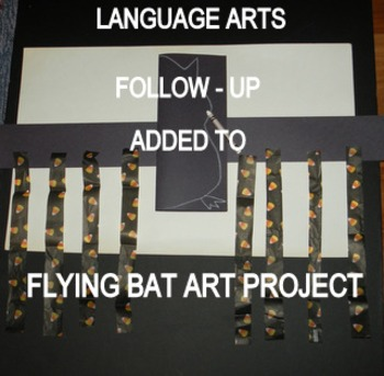 """HALLOWEEN """"EASYART"""" FLYING BAT"""