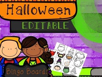 HALLOWEEN Editable BINGO Boards