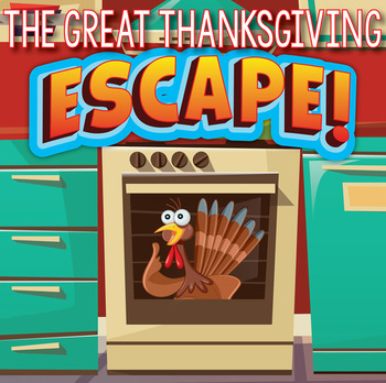THANKSGIVING Escape Room (Team Building Activities)