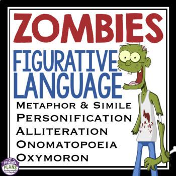 Halloween Figurative Language Zombies By Presto Plans Tpt