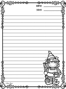 Halloween Writing:  No-Prep Halloween Writing Paper FOLLOWER FREEBIE