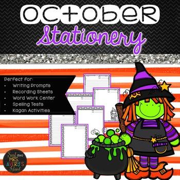 Halloween Writing:  No-Prep Halloween Writing Paper FOLLOW