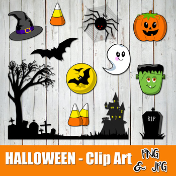 HALLOWEEN FUN - CLIP ART- Halloween characters - PNG and JPG files -Instant Down
