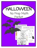 HALLOWEEN FUN: Remote Learning No Prep Math Packet