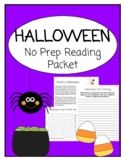 HALLOWEEN FUN: Remote Learning No Prep Reading Packet