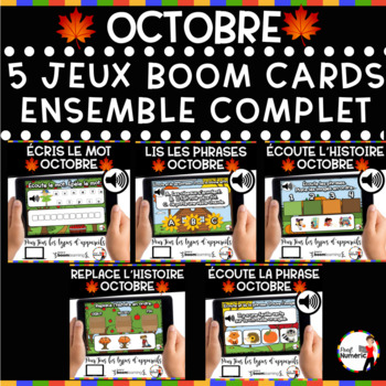 HALLOWEEN French BOOM Cards - BUNDLE 5 Jeux (OCTOBRE)