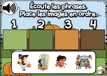 HALLOWEEN French BOOM card - Écoute les phrases.  (OCTOBRE : Jeu 5)
