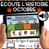 HALLOWEEN French BOOM card - Écoute les phrases.  (OCTOBRE