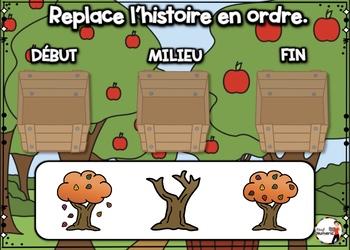 HALLOWEEN French BOOM card-Replace l'histoire en ordre. (OCTOBRE : Jeu 4)
