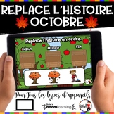 HALLOWEEN French BOOM card-Replace l'histoire en ordre. (O