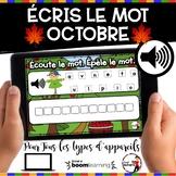 HALLOWEEN French BOOM cards - Écoute et lis la phrase. (OC