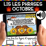 HALLOWEEN French BOOM cards-Écoute et lis les phrases. (OC