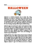 HALLOWEEN HISTORY COMPREHENSION