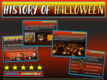 !HALLOWEEN HISTORY! - fun, engaging, informative 15-slide PPT