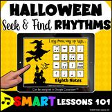 HALLOWEEN I Spy RHYTHM SYMBOL BOOM CARDS™ Music Distance L