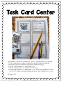 HALLOWEEN Comprehension,  task cards, interactive journal printables