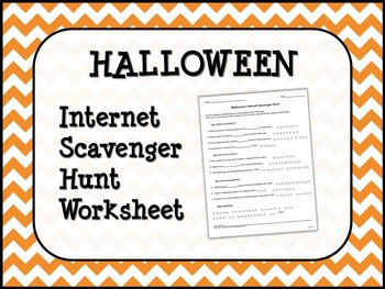 HALLOWEEN Internet Scavenger Hunt