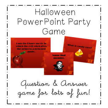 HALLOWEEN JEOPARDY PARTY GAME POWER POINT ACTIVITY ALL AGES