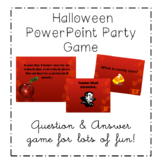 HALLOWEEN JEOPARDY PARTY GAME POWER POINT ACTIVITY ALL AGES - EDITABLE
