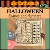 HALLOWEEN Math -number sense and shapes